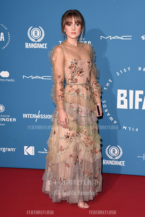 LONDON, UK. December 02, 2018: Molly Wright at the British Independent Film Awards 2018 at Old Billingsgate, London.<br /> Picture: Steve Vas/Featureflash