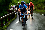 The breakaway group in action during Stage 7 of the Criterium du Dauphine 2019, running 133.5km from Saint-Genix-les-Villages to Les Sept Laux - Pipay, France. 15th June 2019.<br /> Picture: ASO/Alex Broadway | Cyclefile<br /> All photos usage must carry mandatory copyright credit (© Cyclefile | ASO/Alex Broadway)