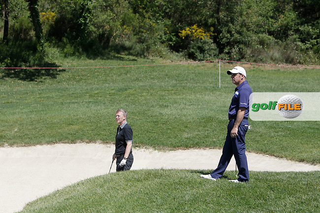 David Moyes (AM) and Paul McGinley (IRL) during the Pro-Am in The Open De Espana at The PGA Catalunya Resort on Wednesday 14th May 2014.<br /> Picture:  Thos Caffrey / www.golffile.ie