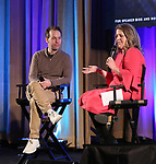 Mike Birbiglia and Laura Davis Gross on stage during Broadwaycon Industry Day  at New York Hilton Midtown on January 11, 2019 in New York City.