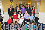 Katharina and Conor Keane Ratoath, Meath originally Aghadoe Killarney celebrated the christening of their daughter Evie with her two brothers Adam and Ryan and their family in the Dromhall Hotel on Saturday (all spellings correct lady said whenever she's in Kerry's Eye they have wrong spelling of their names) .