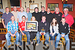 The Firies Golf Society who defeated Farranfore in the Jimmy Culloty memorial cup in Killorglin Golf Course on Saturday received their prizes in Sheahan's bar Firies on Saturday evening front row l-r: Danny Brosnan, Pa Callaghan, Jean Mulchinock, Michael O'Sullivan Captain, Adrian Culloty, Bernard Doyle. Back row: Mike Griffin, Brendan Murray, Pat Goulding, Mike McCarron, Dermot O'Connell, Derek Comerford, Ray Brett, Malcolm Fleming and Con Mulchinock..
