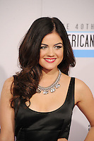 LOS ANGELES, CA - NOVEMBER 18: Lucy Hale at The 40th Annual American Music Awards at The Nokia Theater LA Live, in Los Angeles, California. November 18, 2012. Photo by: MPI99 / MediaPunch Inc NortePhoto
