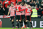 Athletic de Bilbao's Ander Iturraspe, Mikel Balenziaga, Enric Saborit,  Inaki Williams, Aritz Aduriz and Mikel San Jose celebrate goal during Spanish Kings Cup match. January 05,2017. (ALTERPHOTOS/Acero)