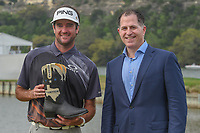 Bubba Watson (USA) and Dell Technologies CEO, Michael Dell following the World Golf Championships, Dell Match Play, Austin Country Club, Austin, Texas. 3/25/2018.<br /> Picture: Golffile | Ken Murray<br /> <br /> <br /> All photo usage must carry mandatory copyright credit (&copy; Golffile | Ken Murray)