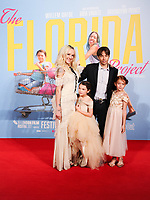 "Brooklyn Kimberly Prince, Bria Vinaite, director, Sean Baker and Valeria Cotto<br /> arriving for the London Film Festival 2017 screening of ""The Florida Project"" at Odeon Leicester Square, London<br /> <br /> <br /> ©Ash Knotek  D3335  13/10/2017"