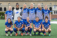 Allston, MA - Sunday, May 1, 2016:  Boston Breakers starting eleven in a match against the Portland Thorns FC at Jordan Field, Harvard University.