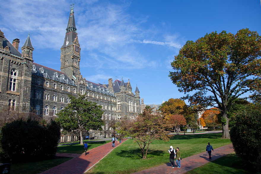 Georgetown University is a private, Jesuit university whose main campus is located in the Washington, D.C. neighborhood of Georgetown. The oldest Catholic university in the United States, Georgetown administers 180 programs in four undergraduate schools, three graduate and professional schools, and several specialized institutes.