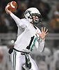 Neil Noviello #18, Locust Valley quarterback, throws a pass during the Nassau County Conference IV varsity football semifinals against Seaford at Hofstra University on Thursday, Nov. 9, 2017.
