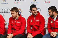 Isco participates and receives new Audi during the presentation of Real Madrid's new cars made by Audi in Madrid. December 01, 2014. (ALTERPHOTOS/Caro Marin) /Nortephoto