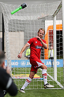 Craig Disley of Grimsby Town (8) celebrates after he scores his team's first goal of the game to make the score 3-1 during the Sky Bet League 2 match between Barnet and Grimsby Town at The Hive, London, England on 29 April 2017. Photo by David Horn.