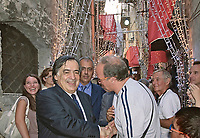 Palermo, festino di Santa Rosalia, il sindaco Orlando incontra la folla.<br />