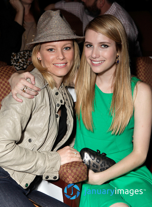 "BEVERLY HILLS, CA - JUNE 06:  Elizabeth Banks and Emma Roberts attend a Fox Searchlight screening Of ""The Art Of Getting By"" at Clarity Theater on June 6, 2011 in Beverly Hills, California.  (Photo by Todd Williamson/WireImage)"
