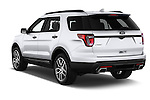Car pictures of rear three quarter view of 2017 Ford Explorer Sport 5 Door Suv Angular Rear