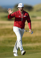 Chris Stroud of USA acknowledges the crowd during Round 3 of the 2015 Alfred Dunhill Links Championship at the Old Course, St Andrews, in Fife, Scotland on 3/10/15.<br /> Picture: Richard Martin-Roberts | Golffile