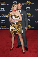 HOLLYWOOD, CA - OCTOBER 10: Sunrise Coigney and Mark Ruffalo at the world premier of Marvel Studios&rsquo; Thor: Ragnarok  in Hollywood, California on October 10, 2017. <br /> CAP/MPIFS<br /> &copy;MPIFS/Capital Pictures