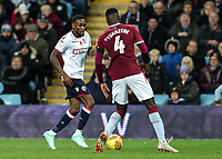 Bolton Wanderers' Lloyd Dyer competing with Aston Villa's Axel Tuanzebe<br /> <br /> Photographer Andrew Kearns/CameraSport<br /> <br /> The EFL Sky Bet Championship - Aston Villa v Bolton Wanderers - Friday 2nd November 2018 - Villa Park - Birmingham<br /> <br /> World Copyright &copy; 2018 CameraSport. All rights reserved. 43 Linden Ave. Countesthorpe. Leicester. England. LE8 5PG - Tel: +44 (0) 116 277 4147 - admin@camerasport.com - www.camerasport.com