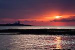 Sunrise at Coquet Island Amble by the Sea Northumberland Coast England