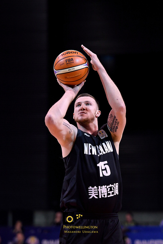 New Zealand Tall Blacks' Tom Vodanovich in action during the FIBA World Cup Basketball Qualifier - NZ Tall Blacks v Jordan at Horncastle Arena, Christchurch, New Zealand on Thursday 29 November  2018. <br /> Photo by Masanori Udagawa. <br /> www.photowellington.photoshelter.com