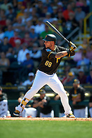 Pittsburgh Pirates center fielder Danny Ortiz (68) at bat during a Spring Training game against the Boston Red Sox on March 9, 2016 at McKechnie Field in Bradenton, Florida.  Boston defeated Pittsburgh 6-2.  (Mike Janes/Four Seam Images)