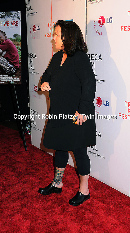 "Rosie O'Donnell..posing for photographers at The 2008 Tribeca Film Festival's screening of "" ""I Am Because We Are"", which is ..executive produced by Madonna, on April 24, 2008 at BMCC/TPAC. ..Robin Platzer, Twin Images"