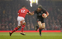 Wales' Jake Ball is tackled by Tonga's Siale Piutau<br /> <br /> Photographer Ian Cook/CameraSport<br /> <br /> Under Armour Series Autumn Internationals - Wales v Tonga - Saturday 17th November 2018 - Principality Stadium - Cardiff<br /> <br /> World Copyright © 2018 CameraSport. All rights reserved. 43 Linden Ave. Countesthorpe. Leicester. England. LE8 5PG - Tel: +44 (0) 116 277 4147 - admin@camerasport.com - www.camerasport.com
