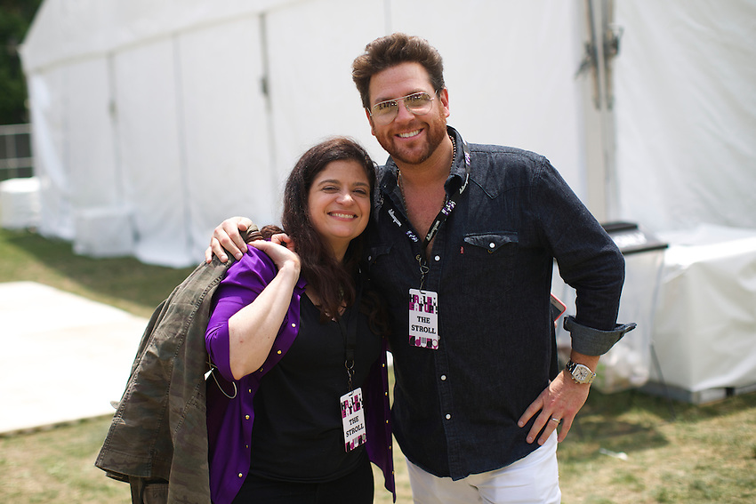 Chefs Alex Guarnaschelli and Scott Conant at Harlem Eats!<br /> <br /> &copy; Clay Williams / claywilliamsphoto.com