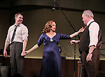 """Brian Hutchison, Valerie Harper & Michael Mulheren<br /> taking a bow at the Broadway Opening Night Curtain Call for """"Looped"""" at the Lyceum Theatre in New York City.<br /> March 14, 2010"""
