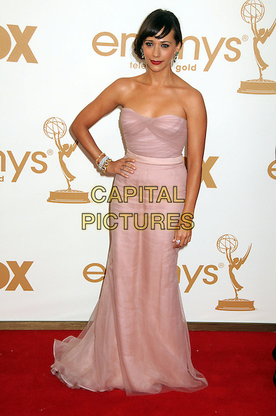 Rashida Jones.63rd Primetime Emmy Awards held at Nokia Theatre L.A. Live. Los Angeles, California, USA. .18th September 2011.emmys full length pink dress hand on hip strapless.CAP/ADM/BP.©Byron Purvis/AdMedia/Capital Pictures.