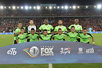 BOGOTA - COLOMBIA, 23-01-2018: Jugadores del Cali posan para una foto previo al encuentro entre América de Cali y Deportivo Cali por el Torneo Fox Sports 2018 jugado en el estadio Nemesio Camacho El Campín de la ciudad de Bogotá. / Players of Cali pose to a photo prior the match between America de Cali and Deportivo Cali for the Fox Sports Tournament 2018 played at the Nemesio Camacho El Campin Stadium in Bogota city. Photo: VizzorImage / Gabriel Aponte / Staff.