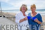 Gemma Hanafin and Trisha Higgins from Tralee enjoying the cup of afternoon tea on Banna beach on Tuesday