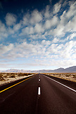USA, Nevada, Interstate 15 North of Las Vegas, only the road and open country landscape