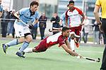 ALMERE - Hockey - Hoofdklasse competitie heren. ALMERE-HGC (0-1) .  Daniel de Haan (Almere) met links Weigert Schut (HGC) COPYRIGHT KOEN SUYK