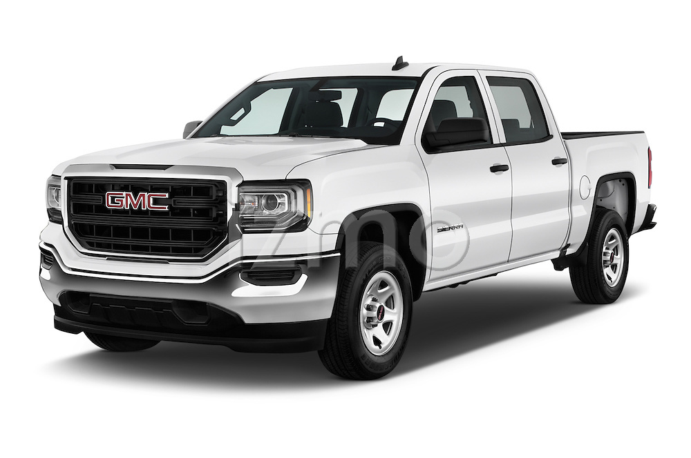 2016 GMC Sierra 1500 2WD Crew Cab Short Box 4 Door Pick-up Angular Front stock photos of front three quarter view