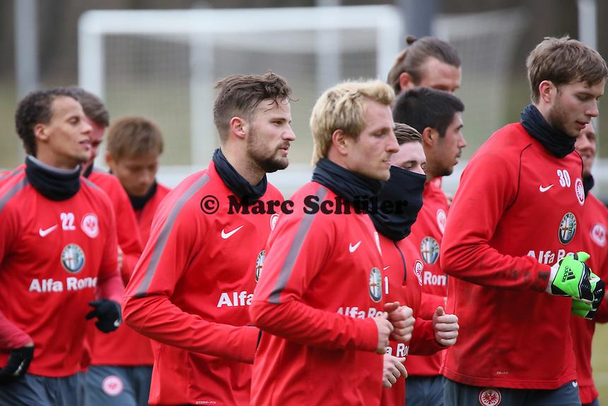 Haris Seferovic und Stefan Aigner - Eintracht Frankfurt Training, Commerzbank Arena