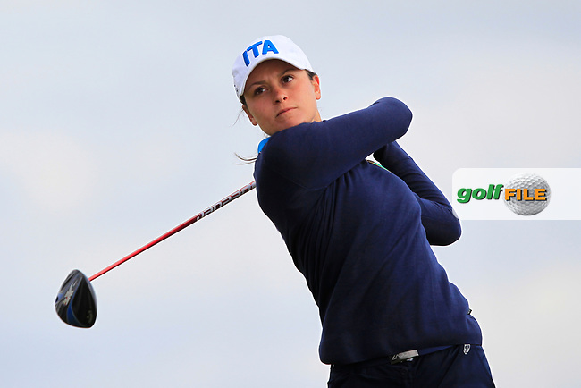 Alessandra Fanali (ITA) on the 8th tee during Round 3 Matchplay of the Women's Amateur Championship at Royal County Down Golf Club in Newcastle Co. Down on Friday 14th June 2019.<br /> Picture:  Thos Caffrey / www.golffile.ie