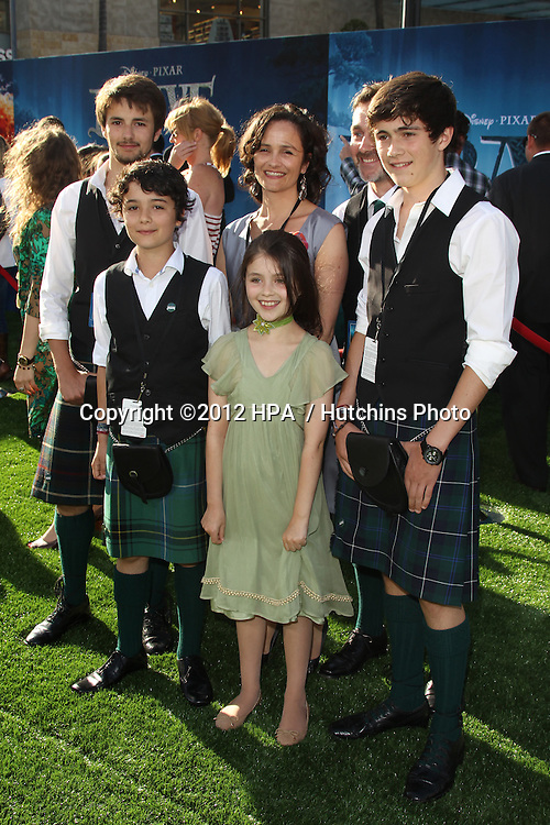 """LOS ANGELES - JUN 18:  Peigi Barker and family arrives at the """"Brave"""" LAFF Premiere at Dolby Theatre on June 18, 2012 in Los Angeles, CA"""