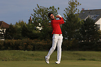 Harry Goddard (Hanbury Manor) on the 18th tee during Round 4 of the Lytham Trophy 2019, held at Royal Lytham & St. Anne's, Lytham, Lancashire, England. 05/05/19<br /> <br /> Picture: Thos Caffrey / Golffile<br /> <br /> All photos usage must carry mandatory copyright credit (© Golffile | Thos Caffrey)