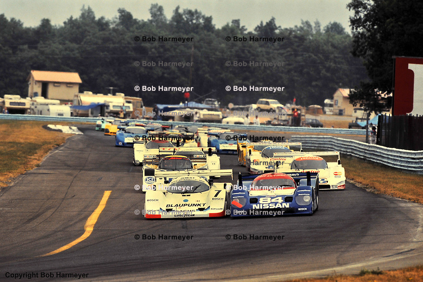 Parade lap for the 1991 IMSA race at Watkins Glen, New York, USA.