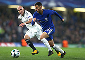 12th September 2017, Stamford Bridge, London, England; UEFA Champions League Group stage, Chelsea versus Qarabag FK; Eden Hazard of Chelsea in action