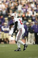 11 November 2006: Thaddeus Chase Jr. during Stanford's 20-3 win over the Washington Huskies in Seattle, WA.