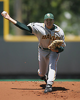Baylor RHP starter Shawn Tolleson (33) pitches against Texas on May 3rd, 2008. Photo by Andrew Woolley / Four Seam Images