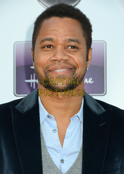 "Cuba Gooding Jr..Disney ABC Television & The Hallmark Hall of Fame ""Firelight"" Premiere held at Fox Studios, Culver City, California, USA..April 17th, 2012.headshot portrait stubble facial hair black blue velvet grey gray.CAP/ADM/BT.©Birdie Thompson/AdMedia/Capital Pictures."
