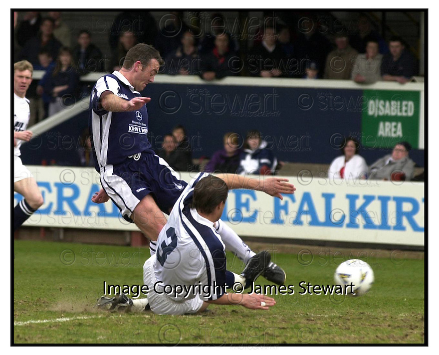 15th April 2000          Copyright Pic : James Stewart .Ref :                           .File Name : stewart20-falkirk v raith                        .SACHA OPINEL CATCHES DAVID NICHOLLS ON THE ANKLE WITH THIS LATE CHALLENGE......Payments to :-.James Stewart Photo Agency, Stewart House, Stewart Road, Falkirk. FK2 7AS      Vat Reg No. 607 6932 25.Office : +44 (0) 1324 630007     Mobile : 07721 416997.Fax     : +44 (0) 1324 630007.E-mail : jim@jspa.co.uk.If you require further information then contact Jim Stewart on any of the numbers above.........