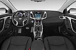 Stock photo of straight dashboard view of a 2015 Hyundai Elantra Sport 4 Door Sedan Dashboard