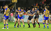 8th September 2017, The Mend-A-Hose Jungle, Castleford, England; Betfred Super League, Super 8s; Castleford Tigers versus Leeds Rhinos; Anthony Mullally of Leeds Rhinos is tackled by Grant Millington of Castleford Tigers and Junior Moors of Castleford Tigers