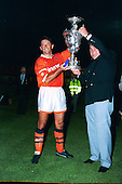 Phil Brown presented with the Lancashire Cup......© Phill Heywood.tel 07806 775649