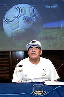 Diego Armando Maradona <br /> Roma 10-10-2016. Rai Viale Mazzini. Presentazione della 'Partita della Pace'.<br /> Rome 10th October 2016. Rai. Presentation of the 'Football match for Peace'.<br /> Foto Samantha Zucchi Insidefoto