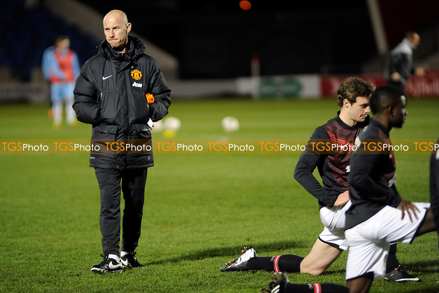 Nicky Butt oversees the pre match training - Manchester United Under-21 vs Manchester City Under-21 - Barclays Under-21 Premier League Football at Salford City Stadium, Manchester - 27/01/14 - MANDATORY CREDIT: Greig Bertram/TGSPHOTO - Self billing applies where appropriate - 0845 094 6026 - contact@tgsphoto.co.uk - NO UNPAID USE