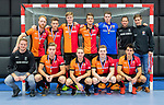 ROTTERDAM  - NK Zaalhockey,   wedstrijd om brons.  heren Oranje Rood- Kampong. OR wint. teamfoto OR.       COPYRIGHT KOEN SUYK